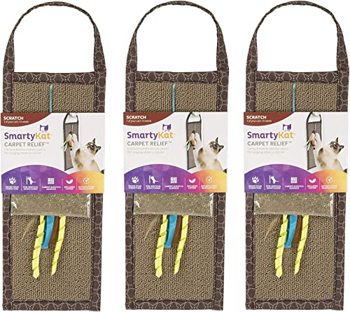 high quality SmartyKat Carpet Relief Hanging Scratcher online sale with online Catnip (Тhree Pаck) outlet online sale