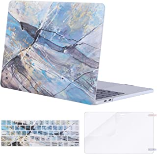 MOSISO MacBook Pro 13 inch Case 2019 2018 2017 2016 Release A2159 A1989 A1706 A1708, Plastic Pattern Hard Shell & Keyboard Cover & Screen Protector Compatible with MacBook Pro 13, Abstract Scrawl