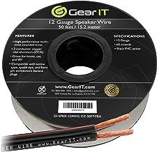 12AWG Speaker Wire, GearIT Pro Series 12 AWG Gauge Speaker Wire Cable (50 Feet / 15.24..