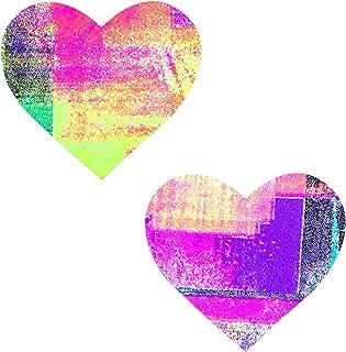 Blacklight Neon Tetris I Heart U Nipztix Pasties Nipple Covers