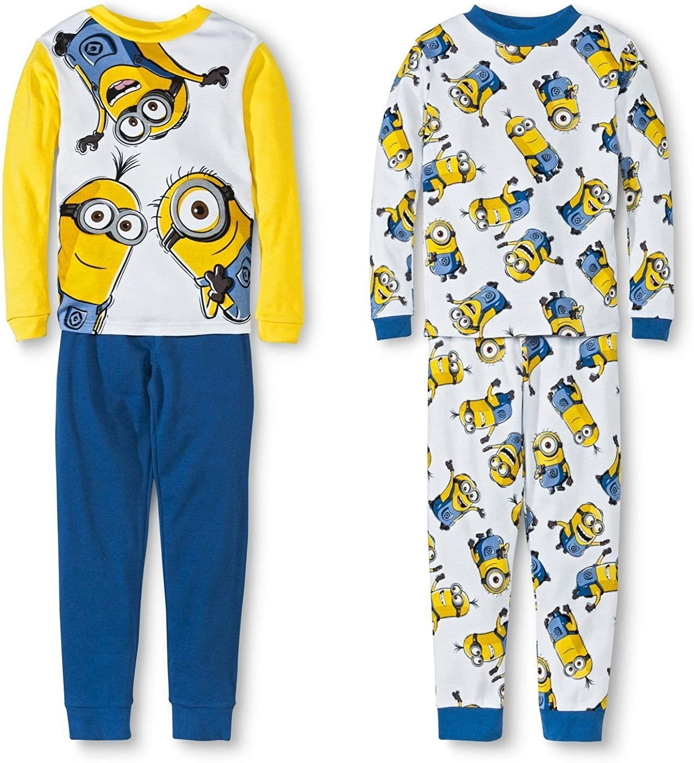 Despicable Me Minions Boy 4 PC Pajama Ranking TOP16 Set Branded goods Long Fit Tight Sleeve