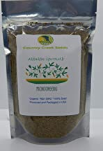 Organic Alfalfa Sprouting Seed, Non GMO - 16 Oz -Country Creek LLC Brand - High Sprout Germination- Edible Seeds, Gardening, Hydroponics, Growing Salad Sprouts, Planting, Food Storage & More