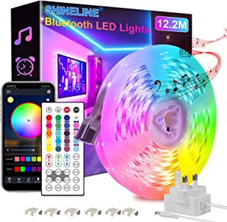 Led Strip Lights 12.2M, Bluetooth APP and Remote Control Music Sync Led Lights for Bedroom, Room, Ceiling, Party, Home Dec...