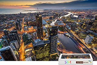 Sim,Wooden With Glue Perfect Choice for the Puzzle Lover - Australia Melbourne Eureka Tower Dusk,20.6 X 15.1 inch - 500 Piece Jigsaw Puzzle