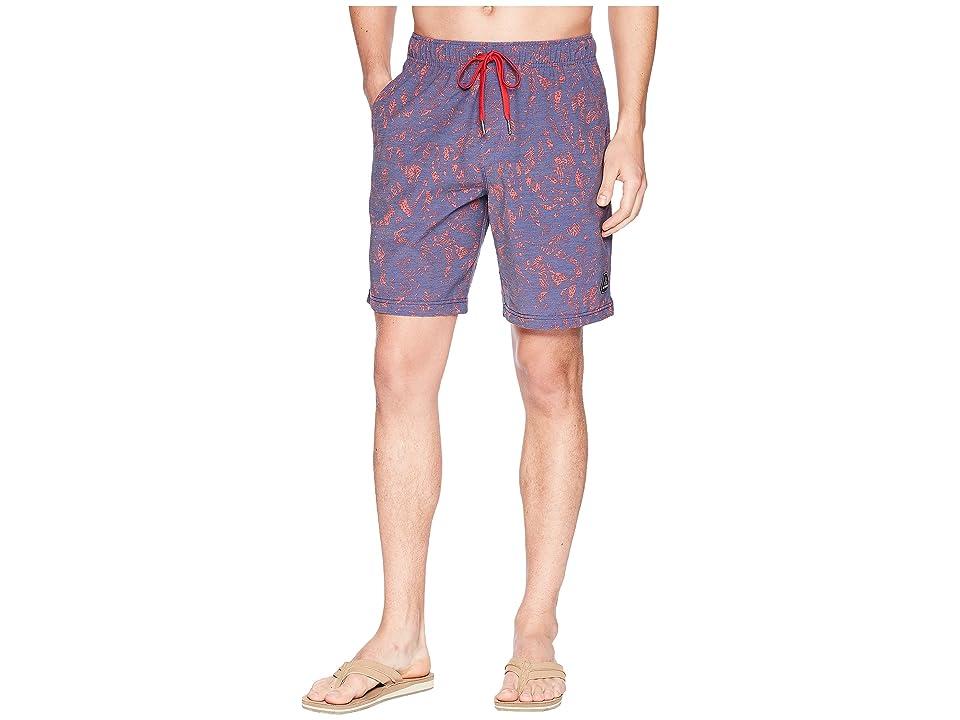 Prana Metric E-Waist Shorts (Indigo Waimea) Men