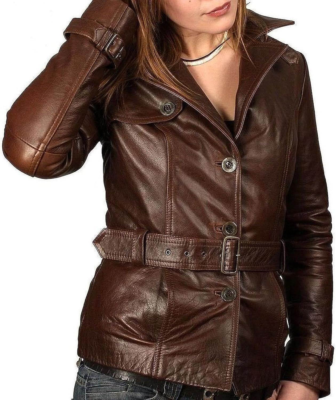 Kingdom Leather New Women's Leather Motorcycle Biker Jacket Soft Lambskin XW325