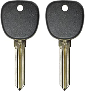 QualityKeylessPlus TWO Replacement Transponder Chip Keys Circle Plus B111PT for GM Vehicles with FREE KEYTAG