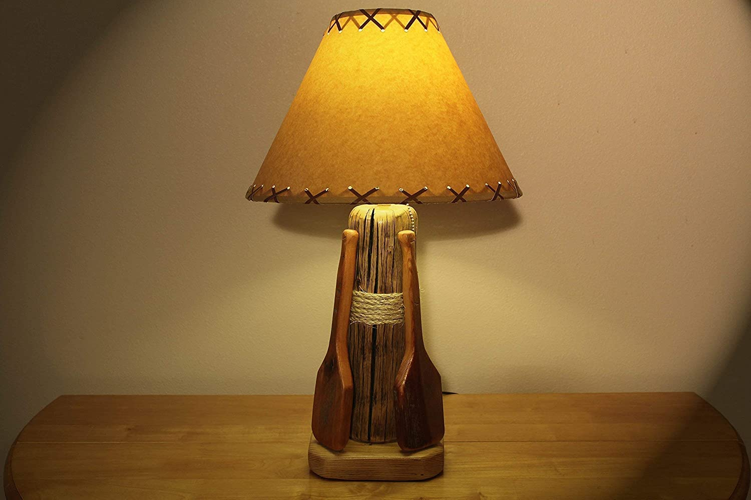 Rustic Cabin Lodge Style Lamp.The Redfish Lamp w Lake Max 79% OFF Hand Save money Table