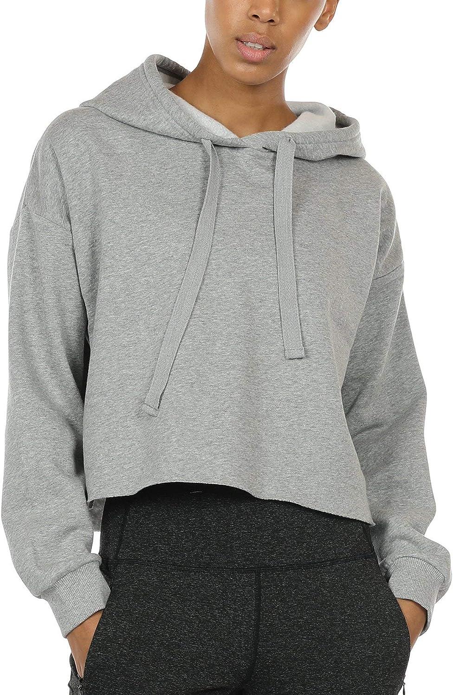 icyzone Workout Sweatshirts for New sales Women - Sleeve Direct stock discount Hoo Top Long Crop