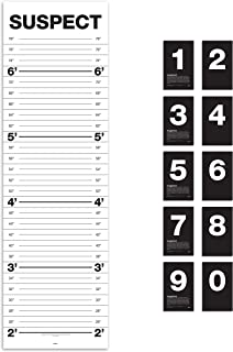 Suck UK Mugshot Height Chart | Wall Growth Chart For Kids & Adults | Party & Photobooth Prop