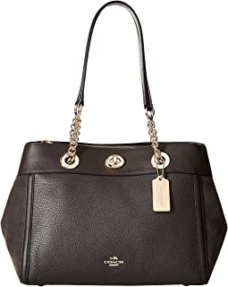 COACH - Mixed Leather Turnlock Chain Edie