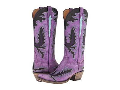 Lucchese L4729 (Destroyed Purple Goat) Cowboy Boots