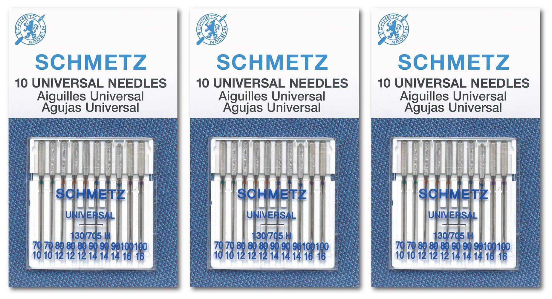 3 x 10 Agujas SCHMETZ Universal Surtidas  70/10 80/12 90/14