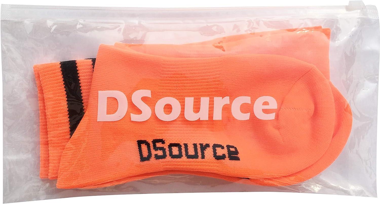 Dsource Unisex Soccer Socks Knee High Stripe Football Tube Socks 2,6,10 Pack