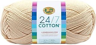 Lion Brand Yarn 761-098 24-7 Cotton Yarn, Ecru