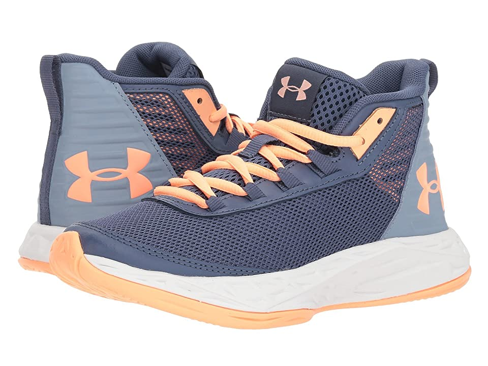 Under Armour Kids UA GGS Jet 2018 (Big Kid) (Utility Blue/Washed Blue/Peach Horizon) Girls Shoes