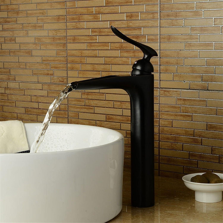 Küchenarmatur Waschtischarmatur Wasserfall Wasserhahn Badarmatur Waschbecken Retro Schwarz Badezimmer Waschbecken Wasserhahn Heie und Kalte Badezimmer Wasserfall Wasserhahn Waschbecken Wasserhahn