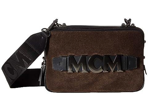 MCM Cubism Suede Crossbody Medium