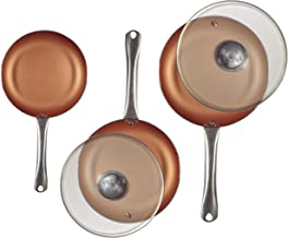 San Ignacio Q2995 Optimum Cooper-Set 5 Piezas: 3 sartenes 2