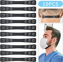 10Pcs Mask Extender, Anti-Tightening Ear Protector Decompression Holder Hook Ear Strap Accessories Ear Grips Extension Mask Buckle Ear Pain Relieved, Black