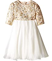 Dolce & Gabbana Kids - Floral Broccade Dress (Toddler/Little Kids)