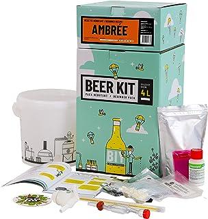 Saveur Bière - Kit de Brassage Débutant, Je Brasse ma bière Maison - 4L de bière - Idée Cadeau 100% découverte (Bière Ambr...