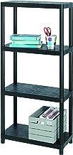 Allibert 17189801 Estantería de plástico con 4 estantes Capacidad de carga por estante de 25 kg / 100 kg