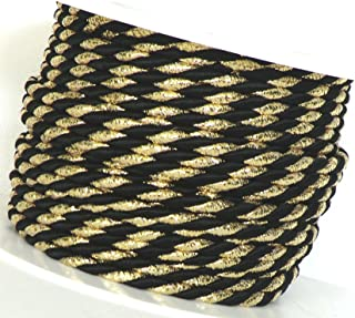 Kordel 50m x 2mm zweifarbig Schwarz Silber Drehkordel Kordelband Kordelschnur