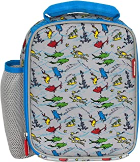 Dr Seuss One Fish Two Fish (Tile) Lunch Bag Kids Fun Neoprene Insulated Preschool Day care lunch box