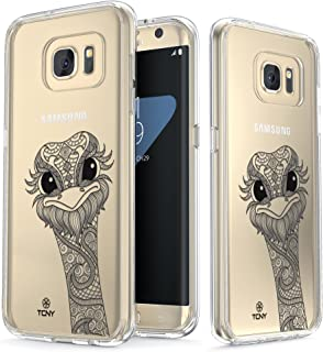 True Color Clear Shield Ornamental Animals Collection Ostrich For Samsung Galaxy S7 Edge