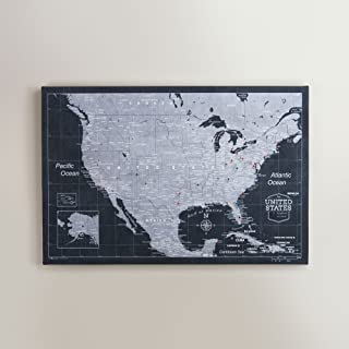 us map pin board