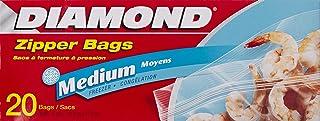 Diamond Medium Zipper Bags, 20