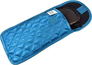 Quilted Satin Soft Eyeglass Case (Pouch), Easy Flap Closure