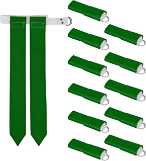Crown Sporting Goods 12-Pack Flag Football Team Set – Includes 12 Belts with 24 Flags, Accessories for Flag & Touch Games, Practices, Training