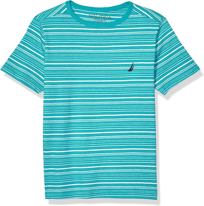Nautica Jungen Striped Crew Neck Basic Tee Hemd