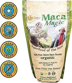 Maca Magic: 100% Organic Raw Powder (2.2 lbs) - Peruvian Premium Grade Superfood - Certified Organic Certified Kosher - Ve...