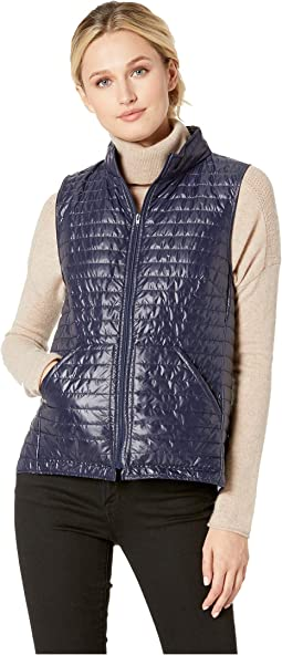 Quilted Zip-Up Vest with Patch Pockets