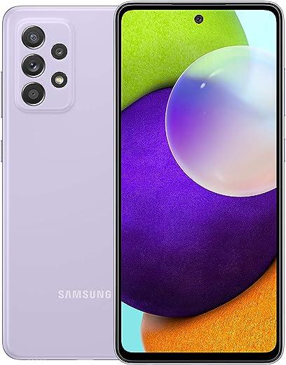 جوال سامسونج جالكسي ايه 52 ثنائي شرائح الاتصال - بسعة ذاكرة 128 GB وذاكرة RAM 8 GB وبتقنية ال تي اي (نسخة المملكة العربية السعودية) لون بنفسجي فاتح