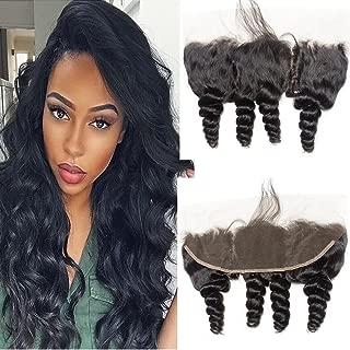 VIPbeauty Malaysian 10A Grade Loose Wave 100% Unprocessed Remy Virgin Human Hair Closure 130% Density 13