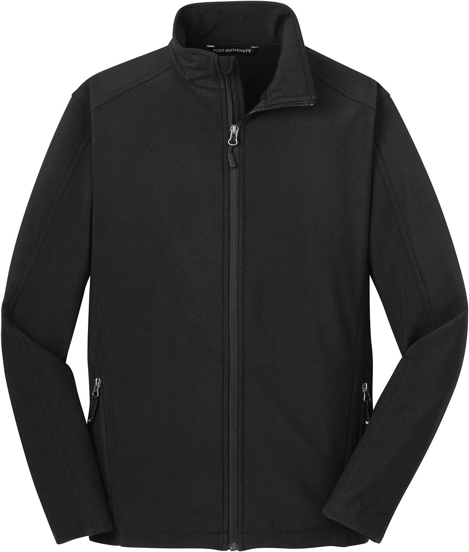 Port Authority Tall Core Soft Shell Jacket>4XLT Black TLJ317