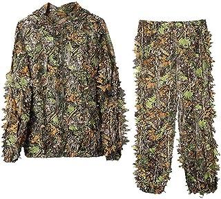 Sibosen Ghillie Suit Camo Woodland Camouflage Suit, 3D...