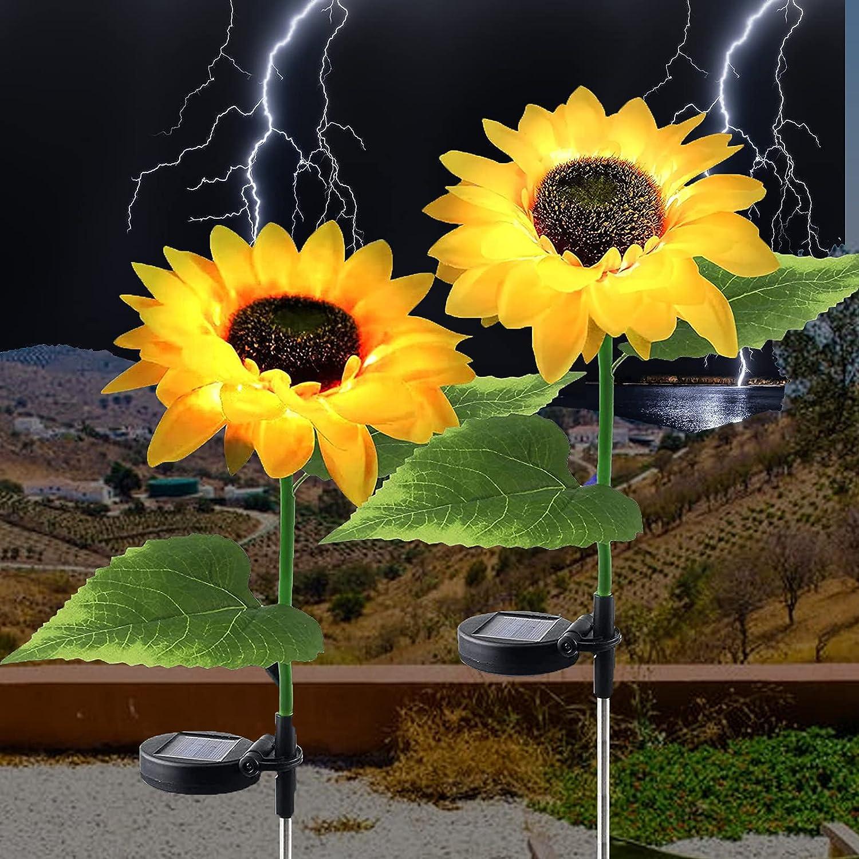 Ovker Outdoor Solar Lights Excellent 2 Waterp - Limited time cheap sale Sunflower Light Pack