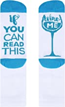 Fun Novelty Socks If You Can Read This Wine Me Funny Saying Cotton Crew Socks Christmas Gift for Men Women