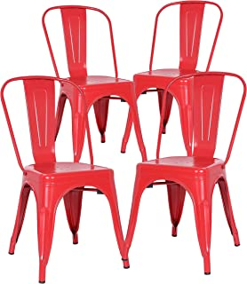 Poly And Bark Trattoria Side Chair In Red (Set Of 4)