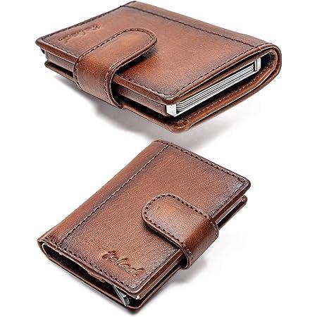 Kredit Kartenetui RFID Geldklammer 12 Karten Halter Geldbörse für Karten Herren