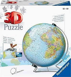 Ravensburger 12436-3D Pussel boll Jordglob - 540 bitar - tredimensionell bygglädje & inget lim behövs för vuxna och barn f...