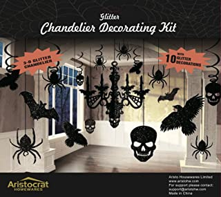 Premium Halloween Haunted House Chandelier Decoration Swirl to Hang from Ceiling Set
