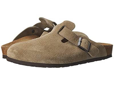 Birkenstock Boston Suede (Unisex) (Taupe Suede) Clog Shoes
