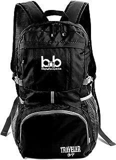 BB Traveler 37L - Lightweight Foldable Backpack for Traveling - Packable Travel Hiking Daypack for Women Men & Kids