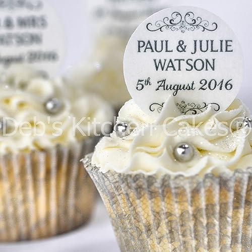 Wedding Cupcake Toppers Amazon Co Uk
